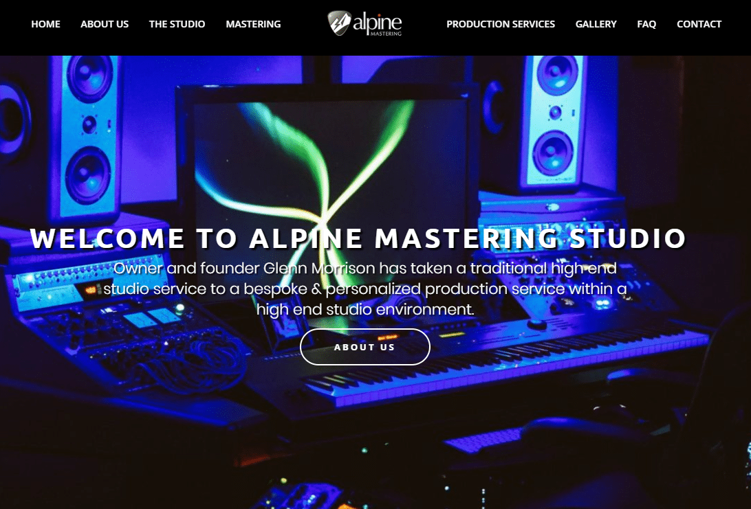 alpine mastering, glenn morrison, eight three eight agency, music seo, music studio websites