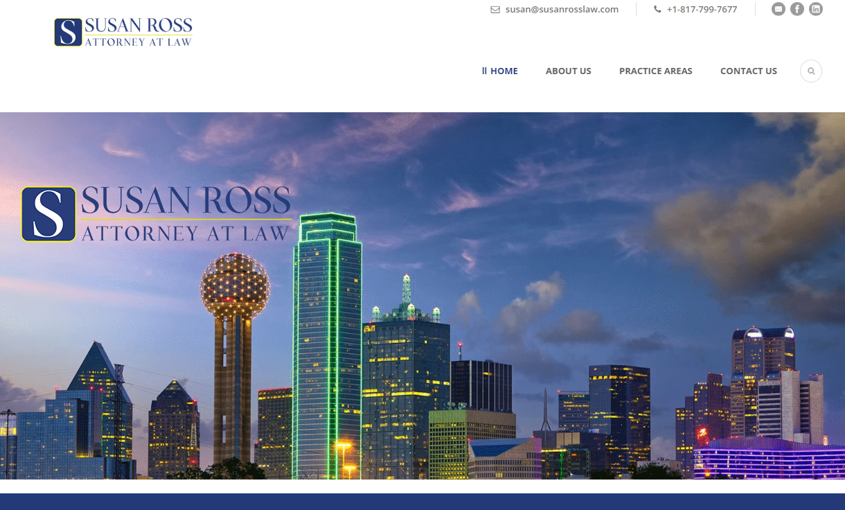 susan ross law, ross law, 838 agency, attorney seo, lawyer websites