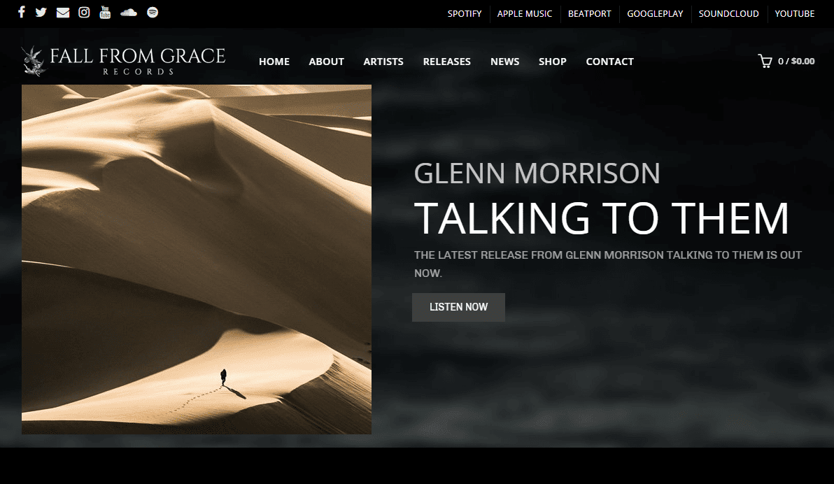 fall from grace records, eight three eight agency, glenn morrison